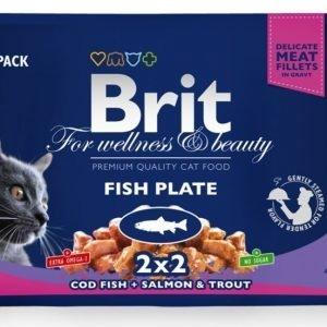 Brit Premium Cat Multipack Fish Plate 4x100g