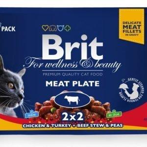 Brit Premium Cat Multipack Meat Plate 4x100g