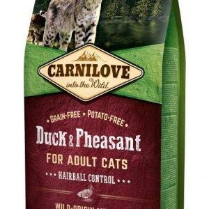 Carnilove Cat Duck & Pheasant Hairball Controll 6 Kg