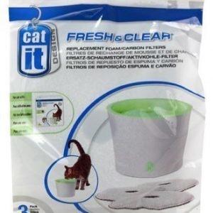 Cat It Hiilisuodatin Cat It Juomalähteeseen Fresh & Clear 3 Litraa 3kpl / Pakk