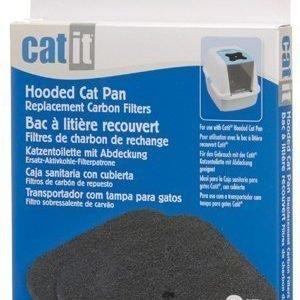 Cat It Hiilisuodatin Hiekkalaatikkoon Cat It Hooded Cat Pan 2 Kpl / Pakkaus