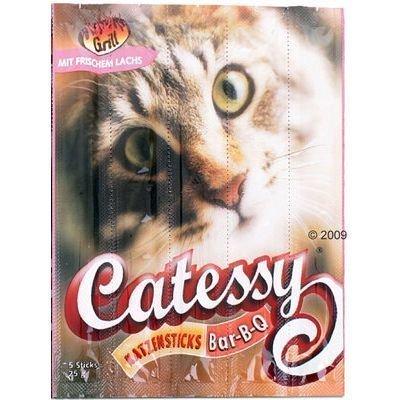 Catessy BBQ Sticks - säästöpakkaus: 45 x lohi