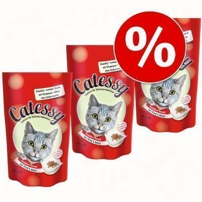Catessy Snacks -säästöpakkaus 3 x 65 g - nauta & mallas