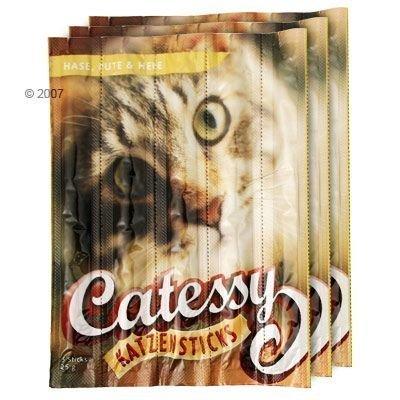 Catessy Sticks - säästöpakkaus: 45 x siipikarja & maksa