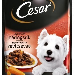 Cesar Härkää & Porkkanaa Kastikkeessa 100 G Annospakkaus