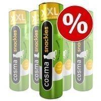 Cosma Snackies XXL -säästöpakkaus - mix: kana: 3 x 30 g & tonnikala 2 x 25 g