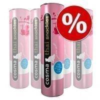 Cosma Thai Snackies -säästöpakkaus - 5 x ankka & ankanmaksa (110 g)