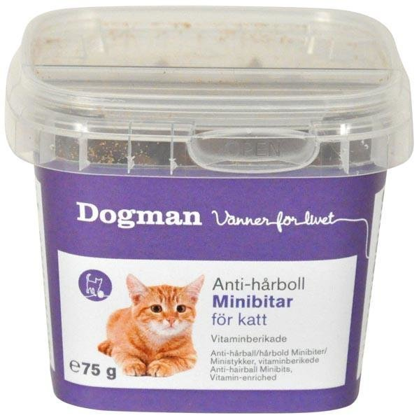 Dogman Cat Minipalat Anti Karvapallo 75 G
