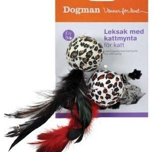 Dogman Höyhensomisteinen Leopardipallo 2 Kpl / Pakkaus
