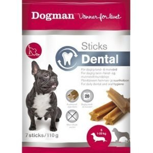 Dogman Sticks Dental S 7 Kpl / Pakkaus