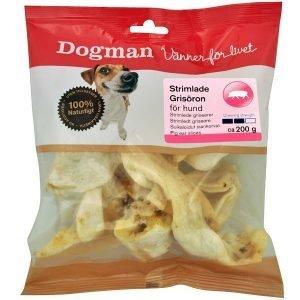Dogman Valkoiset Suikaloidut Siankorvat 130 G