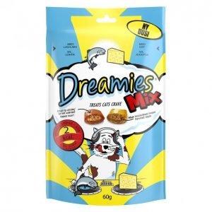 Dreamies Kissanruoka 60 G Mix Lohi&Juusto