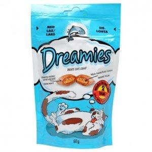 Dreamies Kissanruoka 60g Lohi