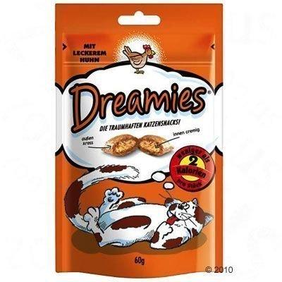 Dreamies kissanherkut 60 g - säästölajitelma: kana & kalkkuna (6 x 60 g)