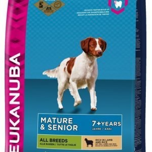 Eukanuba Dog Adult Mature & Senior Lamb & Rice 12 Kg