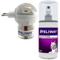 Feliway-feromonihaihdutin tai -suihke - säästöpakkaus: 2 x 48 ml täyttöpulloa