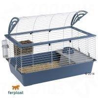 Ferplast Casita 100 -pieneläinhäkki - sininen: P 96 x L 57 x K 56 cm