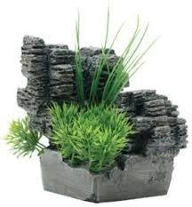 Fluval Chi Dekoration Klippa Med Växt