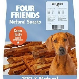 Four Friends Dog Beef Sticks 400g