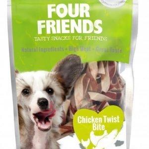 Four Friends Dog Chicken Twist Bite 100g