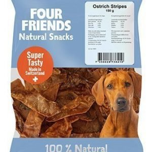Four Friends Dog Ostrich Stripes 500g