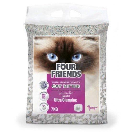 Four Friends Kattsand Lavendel 7kg