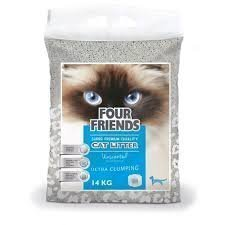 Four Friends Kattsand Oparfymerad 7kg