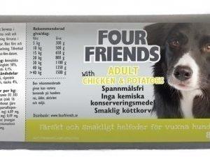 Four Friends Koira Lihamakkara Adult Chicken 12x800g