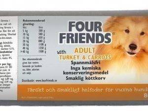 Four Friends Koira Lihamakkara Adult Turkey 12x800g