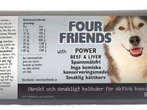 Four Friends Koira Lihamakkara Power 12x800g