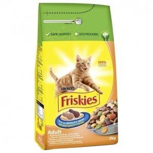 Friskies Kissanruoka 2kg Adult Kana-Vihannes