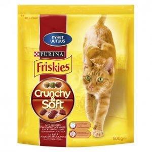 Friskies Kissanruoka 800g Crunchy & Soft Liha