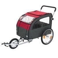 Globetrotter-peräkärry polkupyörään + lenkkeilypaketti - P 162 x L 81 x K 104 cm / max. paino 40 kg - mukana lenkkeilypaketti
