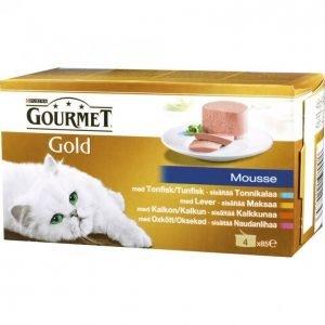 Gourmet Gold Kissanruoka 4x85g Mousse Lajitelma