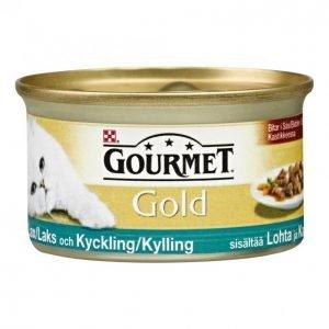 Gourmet Gold Kissanruoka 85g Lohi-Kana Kastike