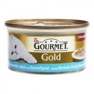 Gourmet Gold Kissanruoka 85g Merikala-Pinaatti