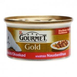 Gourmet Gold Kissanruoka 85g Nautaa Kastikeessa