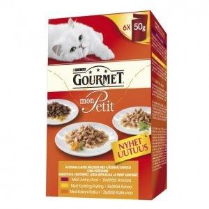Gourmet Mon Petit Kissanruoka 6 X 50 G Siipikarjalajitelma