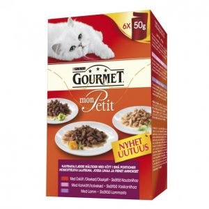 Gourmet Mon Petit Kissanruoka 6x50g Lajitelma