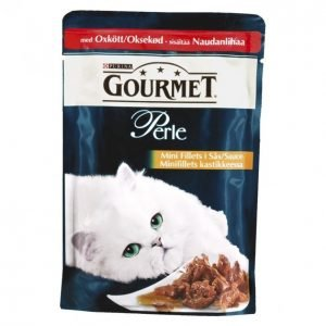 Gourmet Perle Kissanruoka 85 G Nautaa Minifilets Kastikkeessa