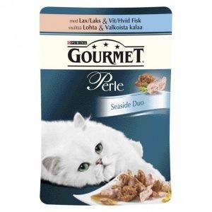 Gourmet Perle Kissanruoka 85 G Seaside Duo Lohta & Valkoista Kalaa