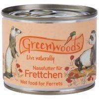 Greenwoods-märkäruoka freteille - säästöpakkaus: 24 x 200 g