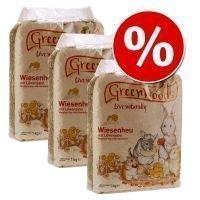 Greenwoods-säästöpakkaus: niittyheinä 3 kg - voikukkaheinä