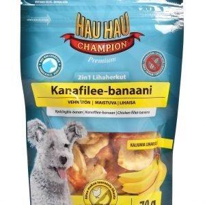 Hau-Hau Champion 2in1 Lihaherkut 70 G Kana-Banaani
