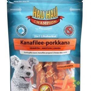 Hau-Hau Champion 2in1 Lihaherkut Kana-Porkkana 70 G