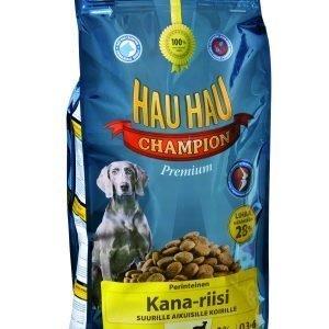 Hau-Hau Champion Kana-Riisi 15 Kg Täysravinto Suurille Koirille