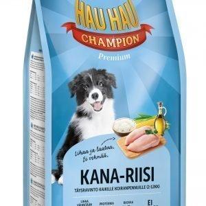Hau-Hau Champion Kana-Riisi 6 Kg Pennun Täysravinto