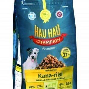 Hau-Hau Champion Kana-Riisi 6 Kg Täysravinto Pienille Koirille