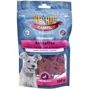 Hau-Hau Champion Koiran Täyslihaherkut 100g Ankkafilee