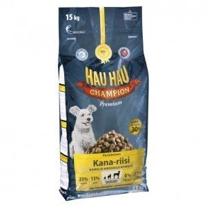 Hau-Hau Champion Koiranruoka 15kg Kana-Riisi